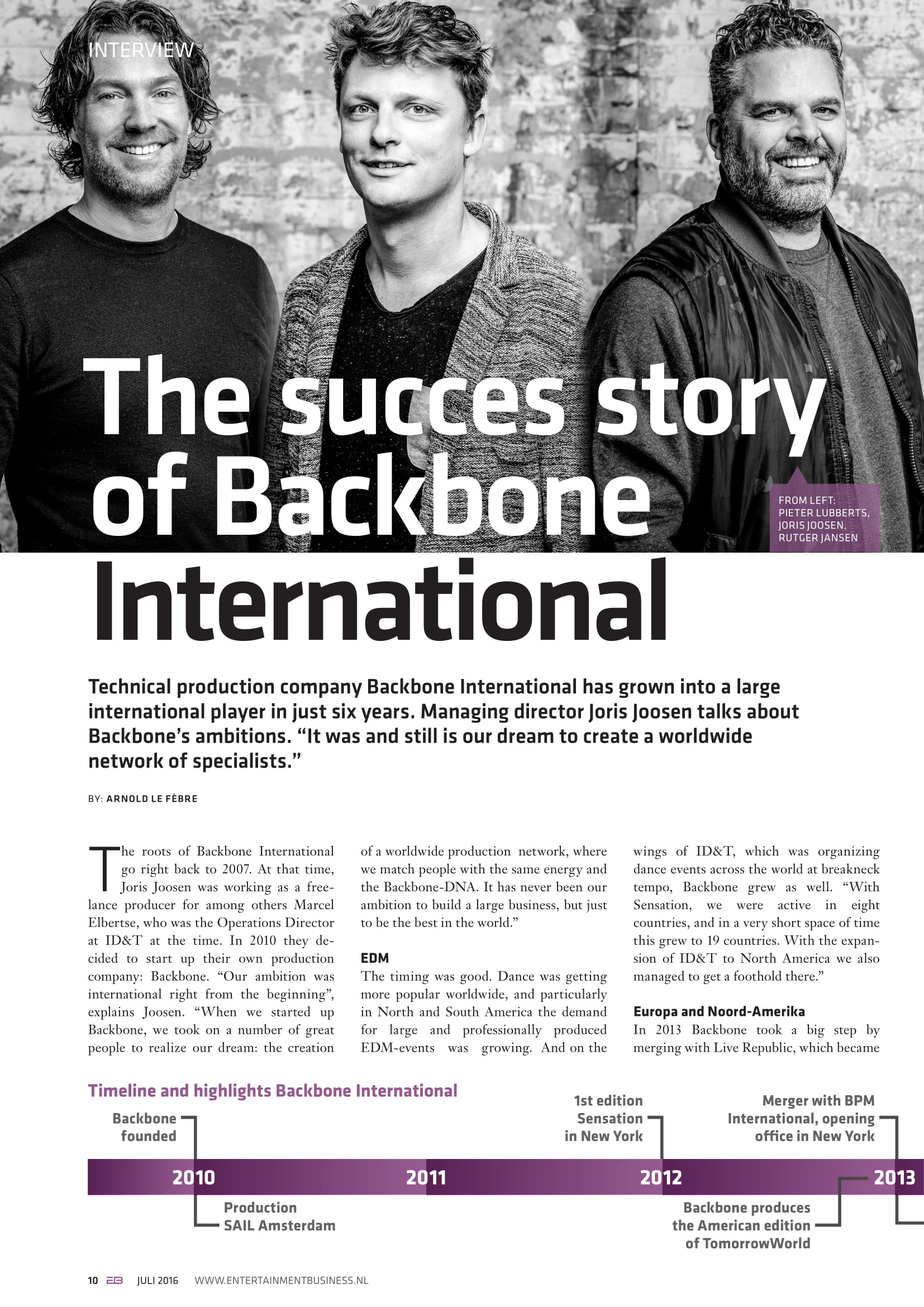 Entertainment Business Live: The Success Story of Backbone